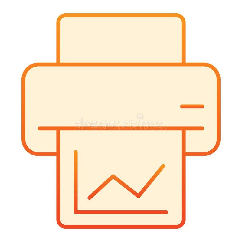 Wydruku mieszkania ikona Drukarek pomarańczowe ikony w modnym mieszkanie stylu Druku gradientu stylu projekt, projektujący dla si ilustracji
