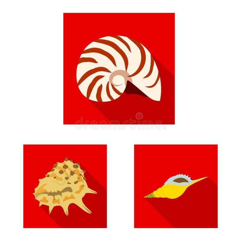 Wydzielony przedmiot logo pochodzenia zwierzęcego i dekoracyjnego Zbieranie ilustracji wektora zasobów zwierzęcych i oceanicznych ilustracji