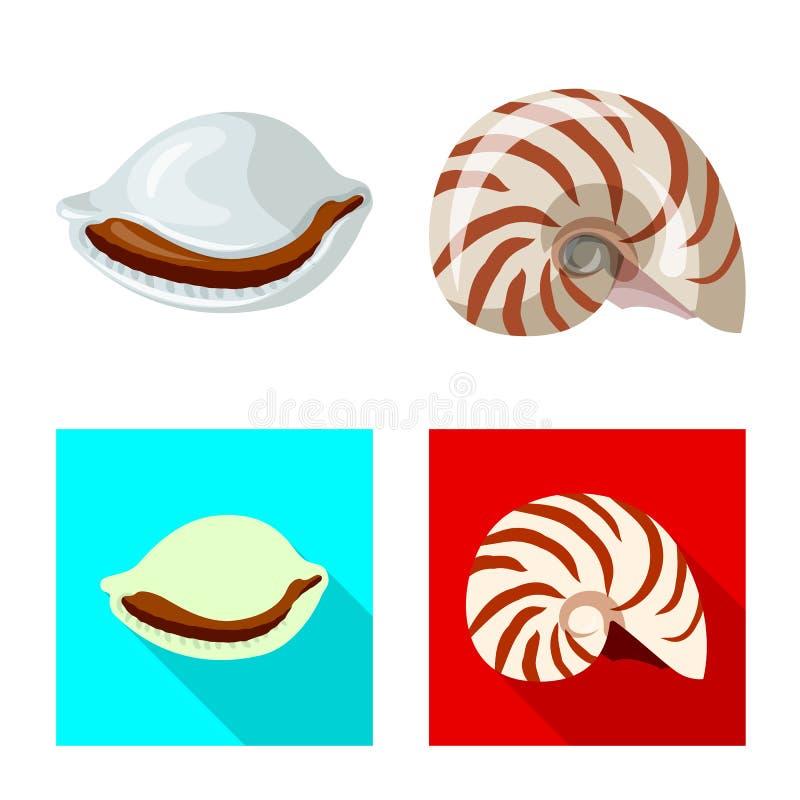 Wydzielony przedmiot logo pochodzenia zwierzęcego i dekoracyjnego Zestaw ikon wektora zwierzęcego i oceanicznego dla zasobu ilustracji