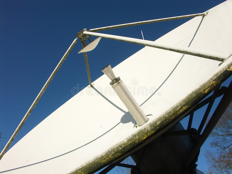 wyemitowana naczynie satelity fotografia royalty free
