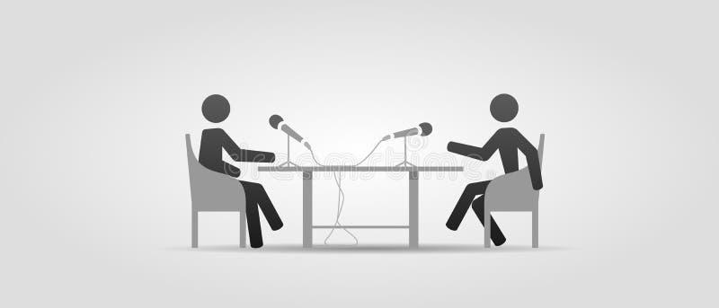 Wyemitowany wywiad ilustracja wektor