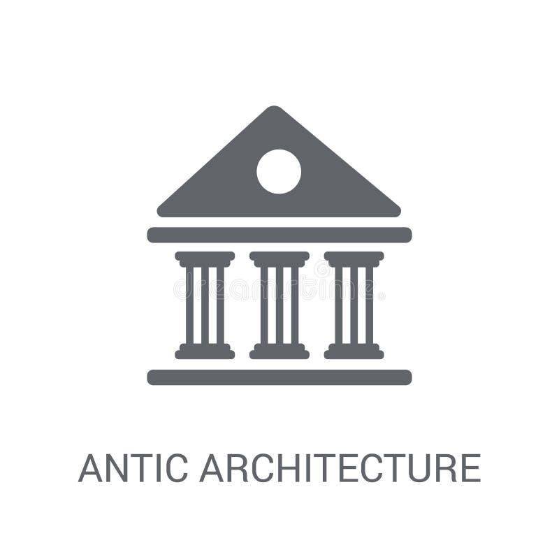 wygłupy architektury ikona Modny wygłupy architektury logo pojęcie royalty ilustracja