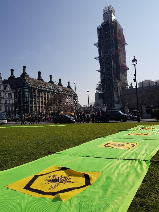 Wygaśnięcie bunt: Klimatów protestujący w Środkowym Londyn zdjęcia royalty free
