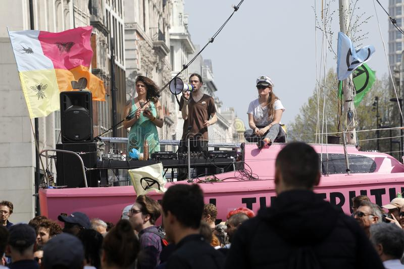 Wygaśnięcie bunta protesta Oxford cyrk London fotografia royalty free