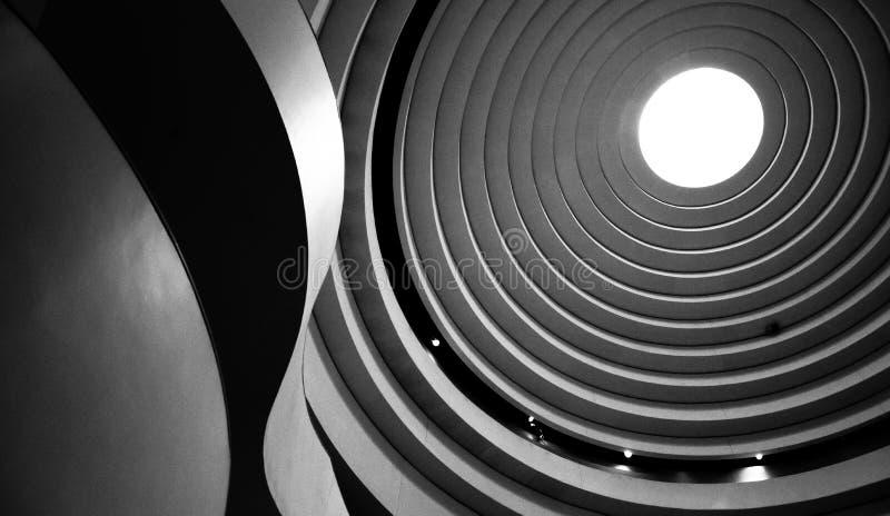 Wyginający się architektoniczni szczegóły w muzeum narodowym Ameri fotografia royalty free