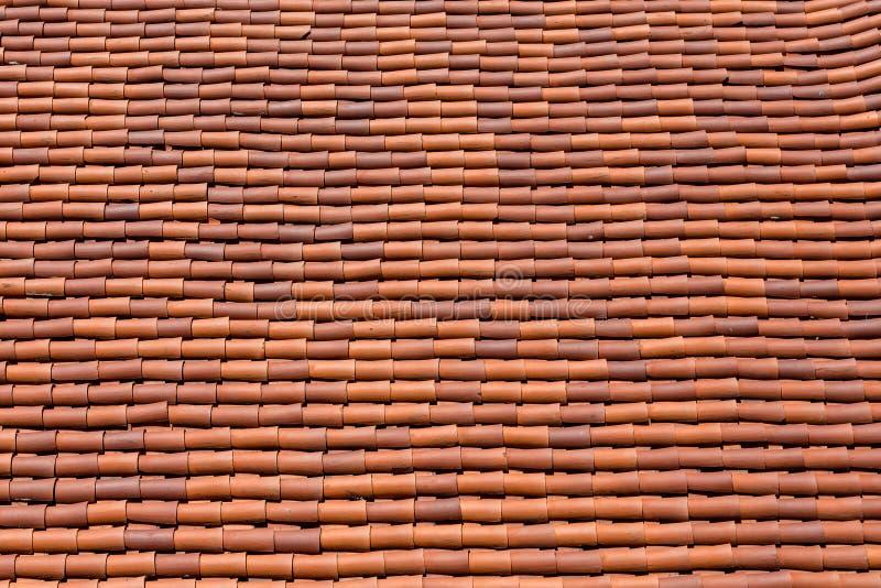 Wyginający się Czerwony Dachówkowy dach zdjęcia royalty free