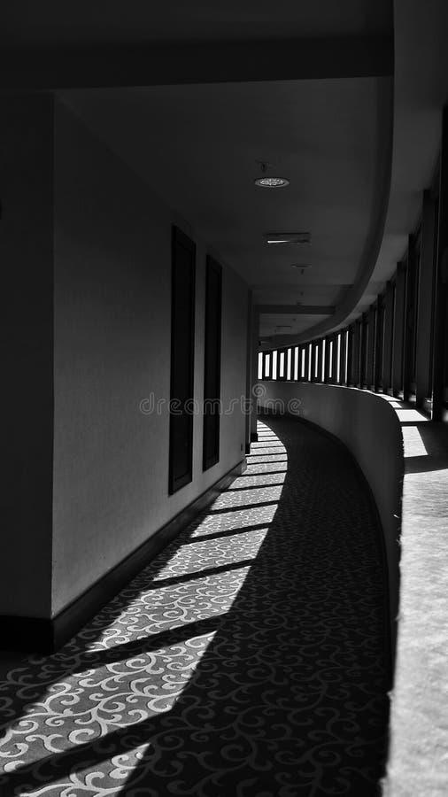 Wyginający się korytarz fotografia royalty free