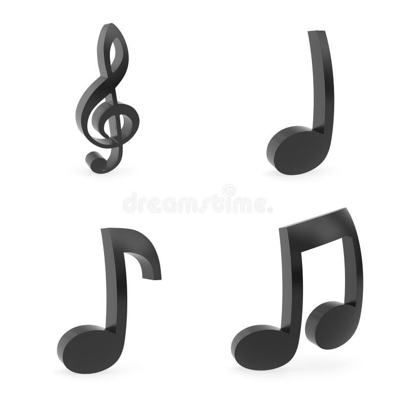 Wyginający się muzyczni symbole fotografia stock