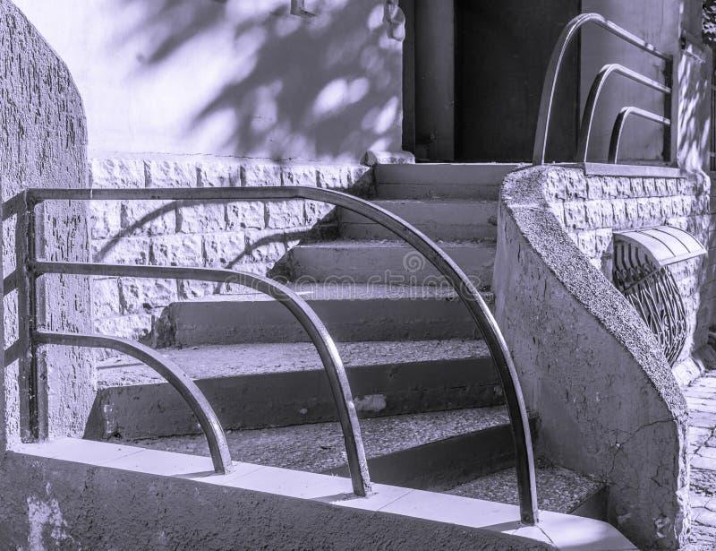 Wyginający się schody w Kharrkiv obraz stock