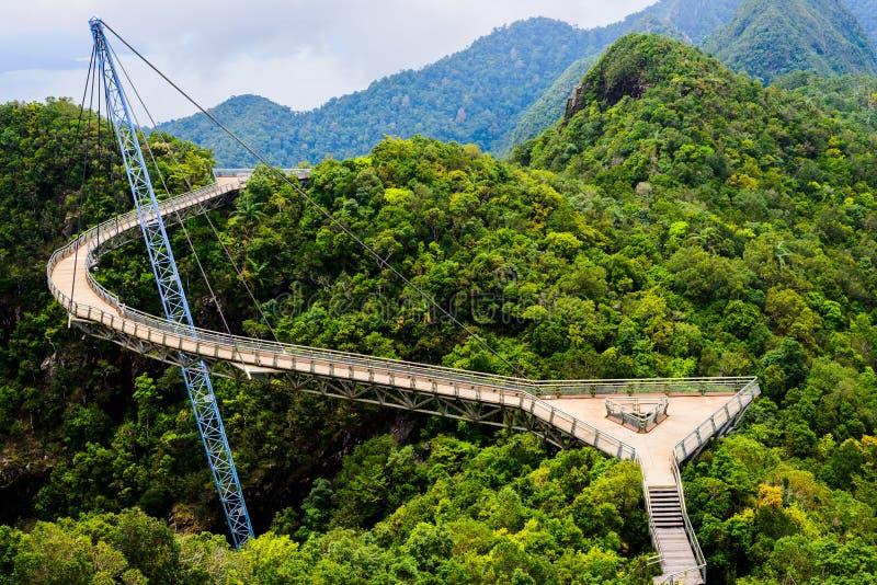 Wyginający się zawieszenie most obraz royalty free