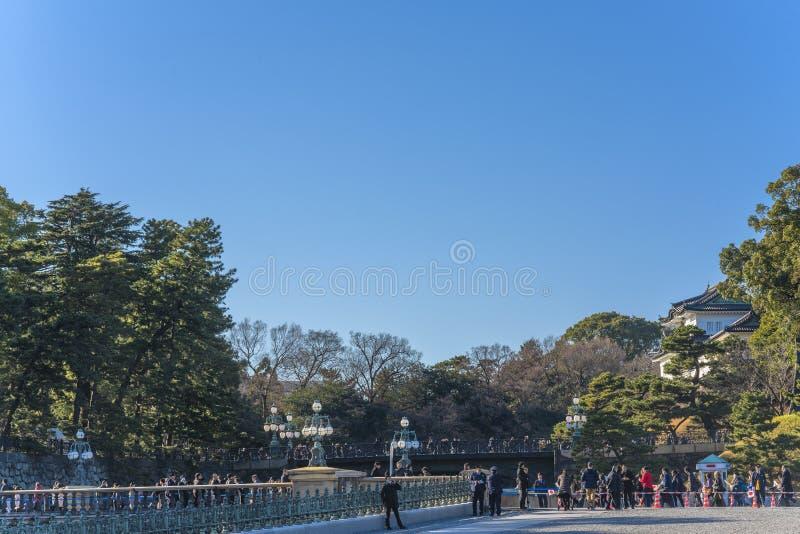 Wygląd z okazji Nowego Roku Ich Królewskich Mości, cesarza i cesarstwa Japonii, któremu towarzyszył młodszy brat obraz royalty free