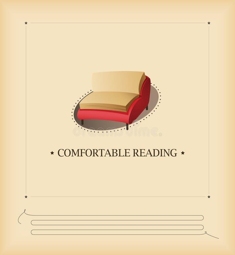 wygodny czytanie ilustracja wektor