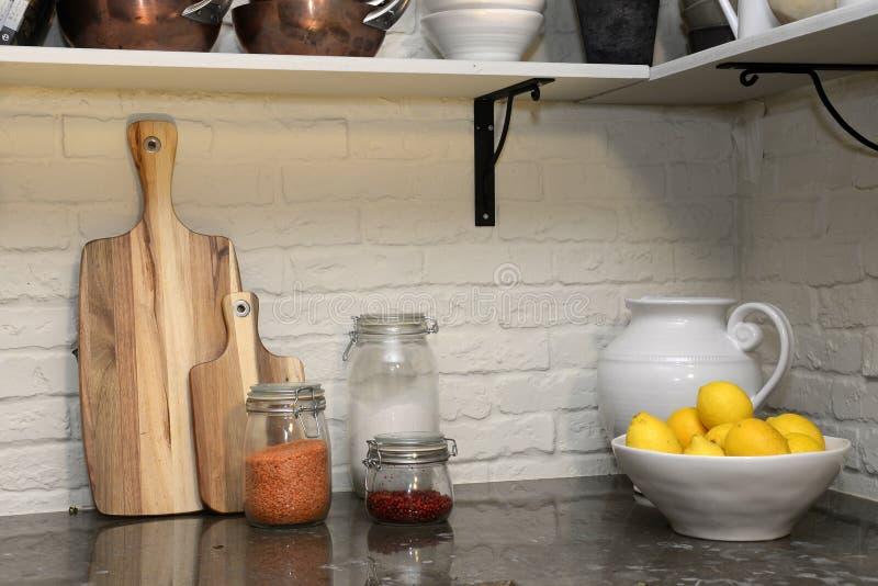 Wygodny kuchnia kąt zdjęcia stock