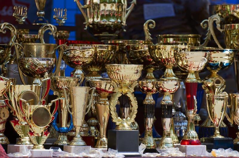 Wygrani trofea zdjęcie royalty free