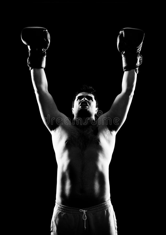 Wygrany bokser fotografia stock