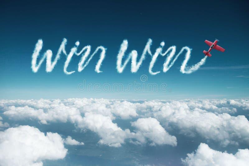 Wygrany wygrany chmura robić samolotem fotografia royalty free