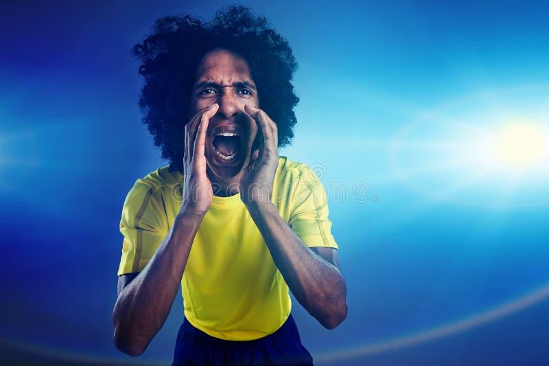Wygrany futbol fotografia stock