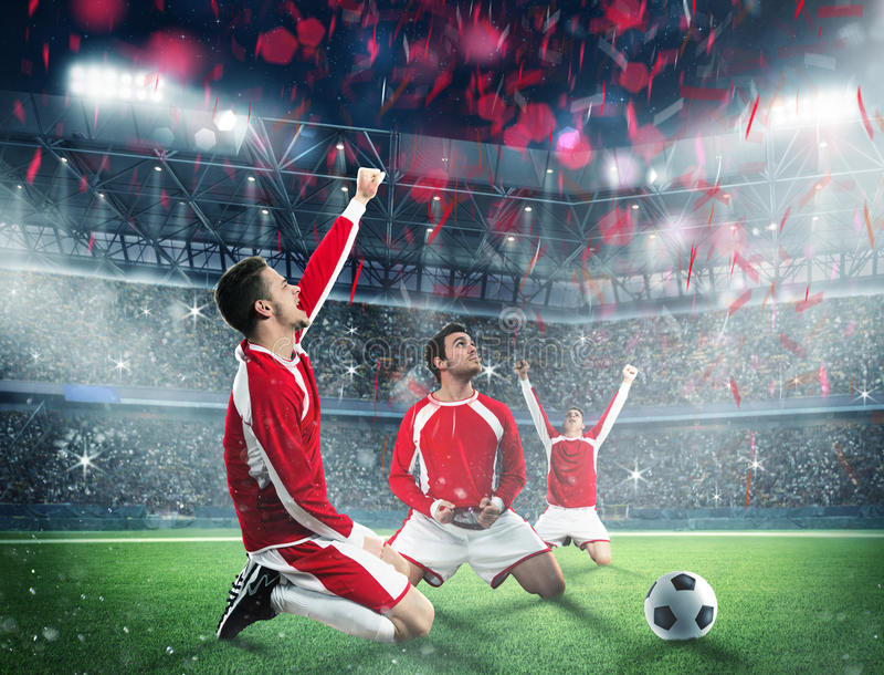 Wygrywa mecz futbolowego zdjęcie royalty free