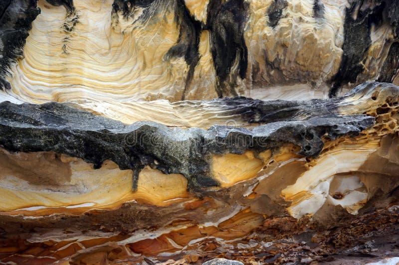 Wygryzione rockowe tekstury zdjęcia stock