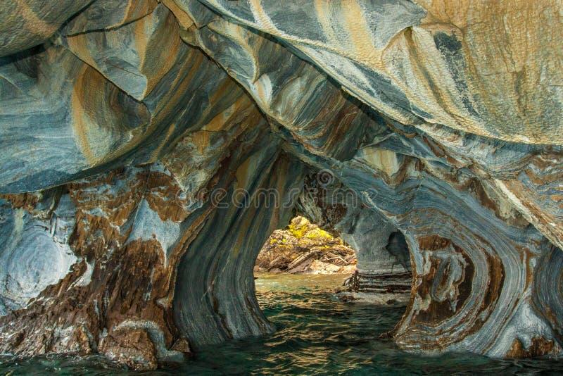 Wygryziony Marmurowy Cavern fotografia royalty free