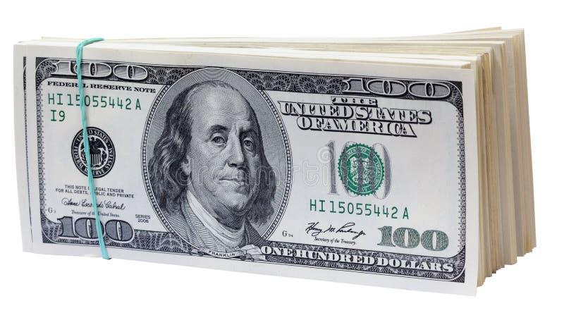 wyizolowana dolarów. obraz royalty free