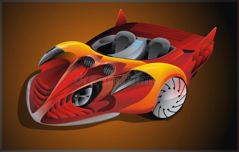 wyjątkowy samochód ilustracja wektor
