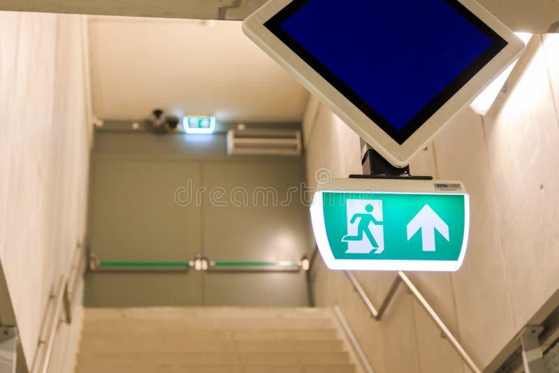 Wyjście ewakuacyjne zdjęcia royalty free