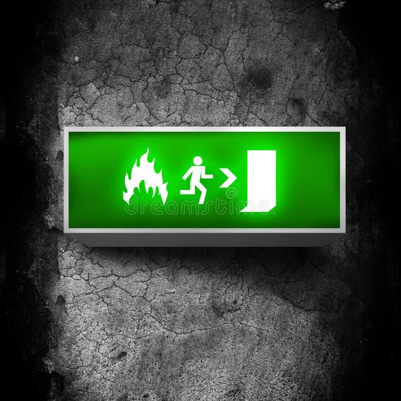 Wyjście ewakuacyjne znak zdjęcie royalty free