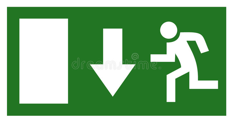 Wyjście ewakuacyjne znak ilustracja wektor