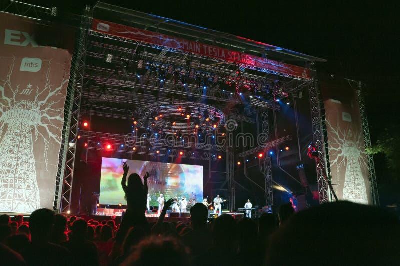 Wyjście festiwal muzyki Novi Sad Serbia fotografia royalty free