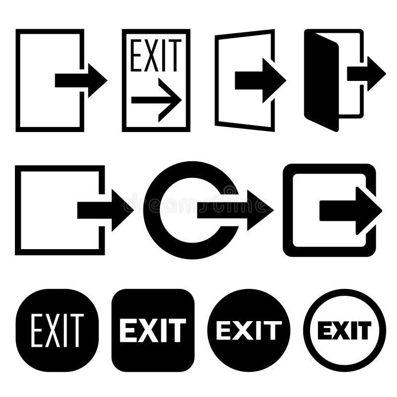 Wyjście ikony ilustracji