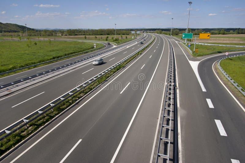 Wyjście od autostrady zdjęcie royalty free