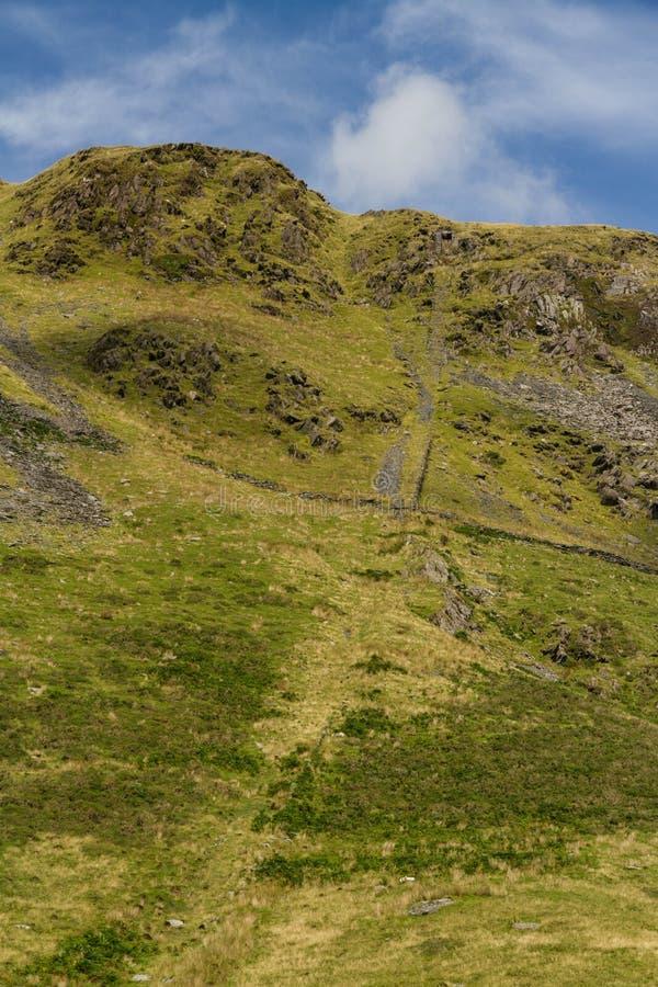 Wyjście pochylnia Rhosydd łupku kopalnia obraz stock