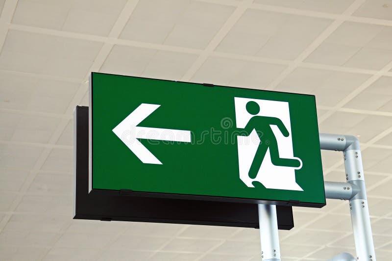 Wyjście znak przy lotniskiem. obraz stock