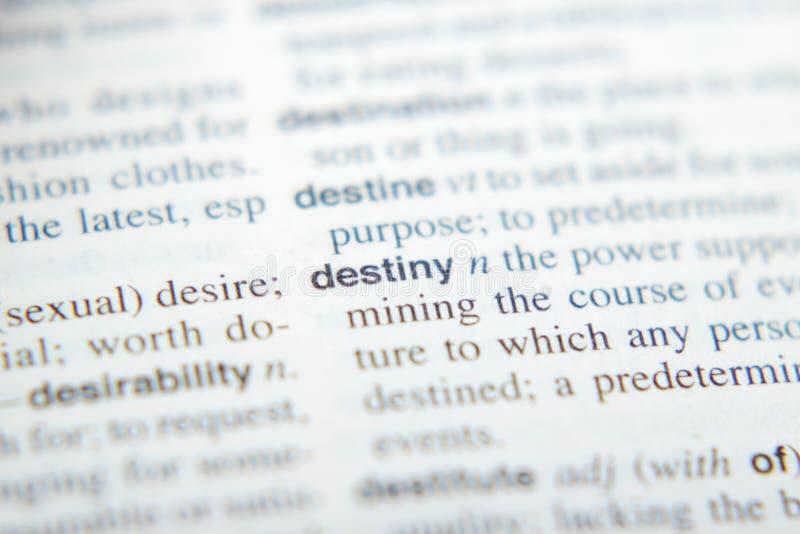 Wyjaśnienie przeznaczenie w słowniku zdjęcie royalty free