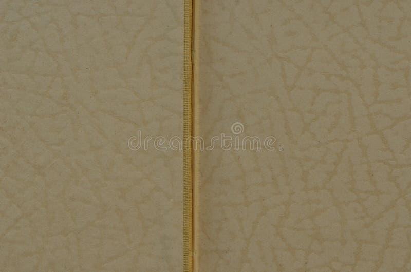 Wyjawiona rocznik książka Embossed tekstura na białym papierze Rocznik i retro motyw fotografia stock