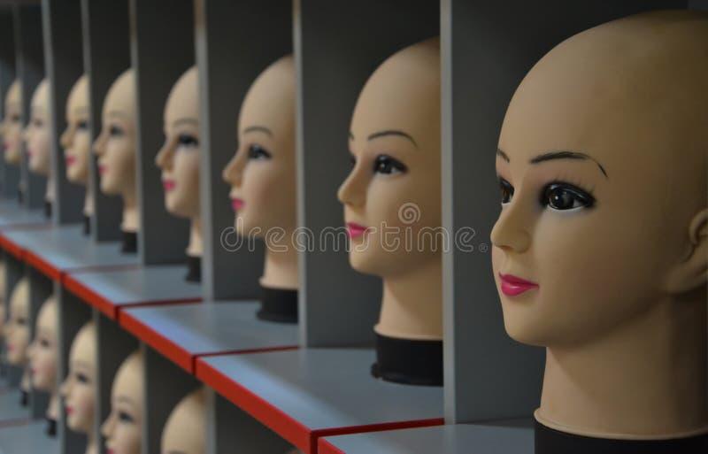 Wykładać Mannequin głowy zdjęcia royalty free