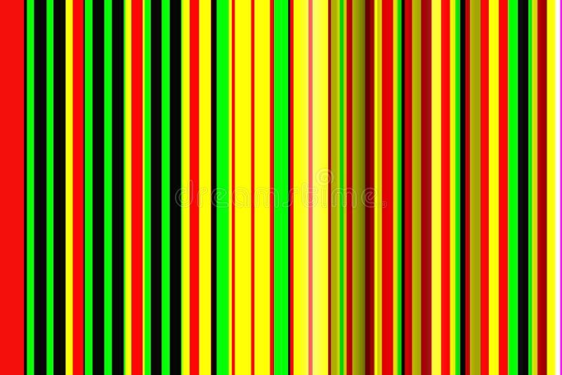 Wykłada tło, kolor żółty, czerwień, zielone liny, geometria abstrakta wzór ilustracja wektor