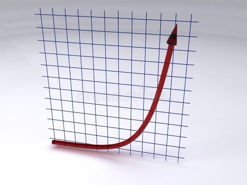 wykładniczy wzrost ilustracji