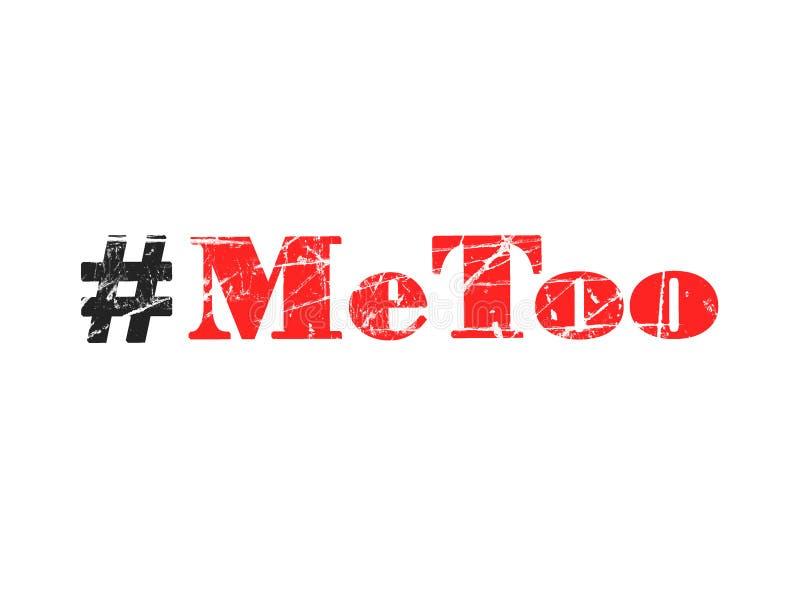 Wykazywać tendencję hashtag Metoo na białym tle