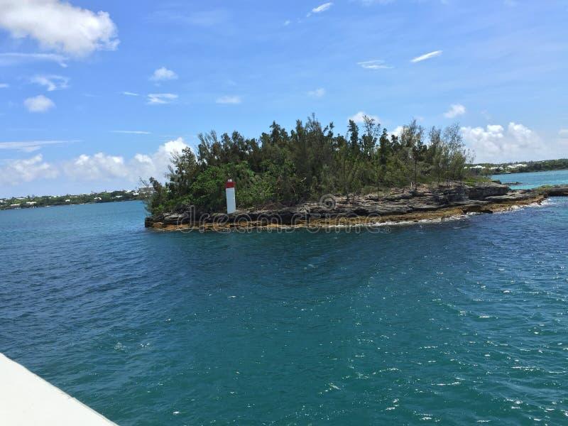 Wykluczająca wyspa z Bermuda Nawadnia zdjęcia stock