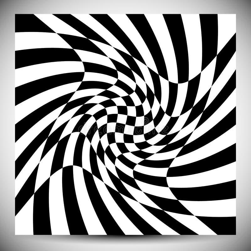 Wykoślawienie skutki na różnorodnych wzorach Geometryczny szpotawy textu ilustracja wektor
