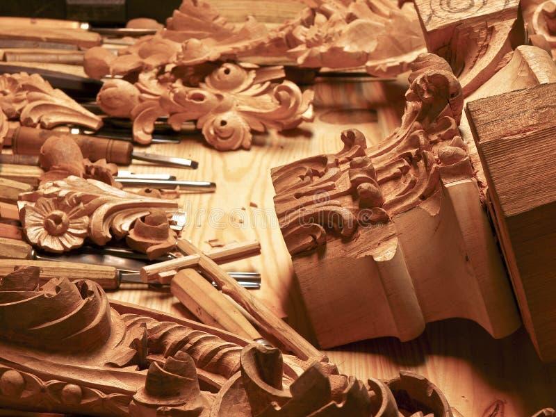 wykonać ręcznie drewna obrazy royalty free