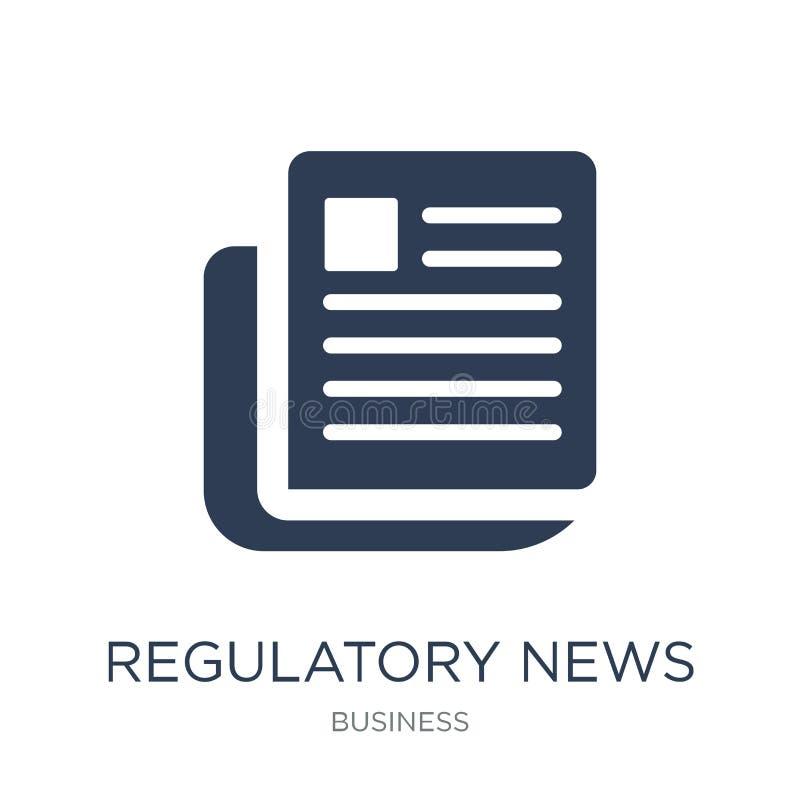 Wykonawcza serwis wiadomości ikona (RNS) Modny płaski wektorowy regulator royalty ilustracja