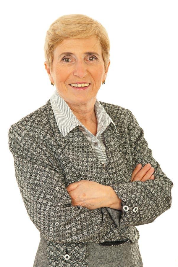 wykonawcza starsza kobieta fotografia royalty free