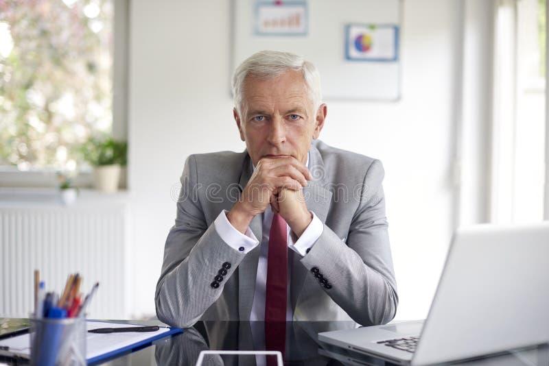 Wykonawczego pieniężnego dyrektora biznesmena przyglądający zamyślenie obraz royalty free