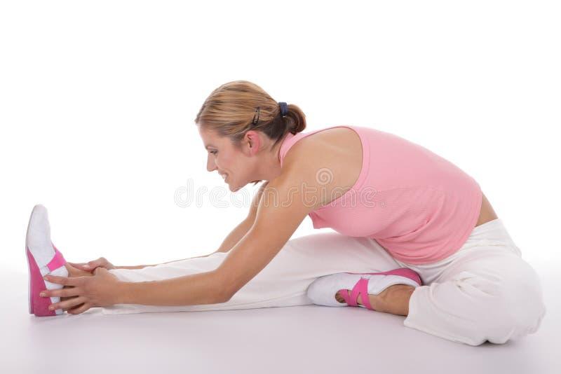 wykonywanie fitness zdjęcia royalty free