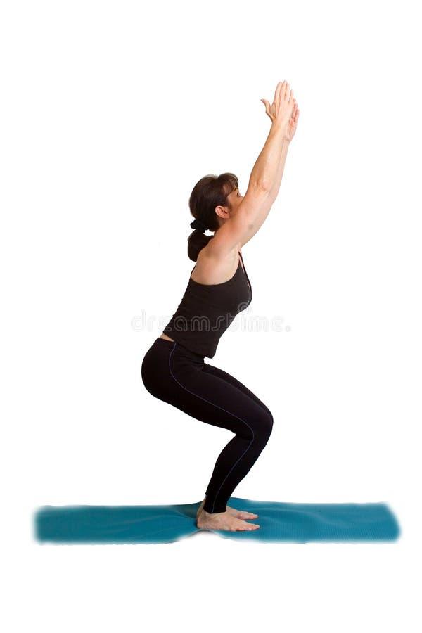 wykonywanie pozy jogi obrazy stock