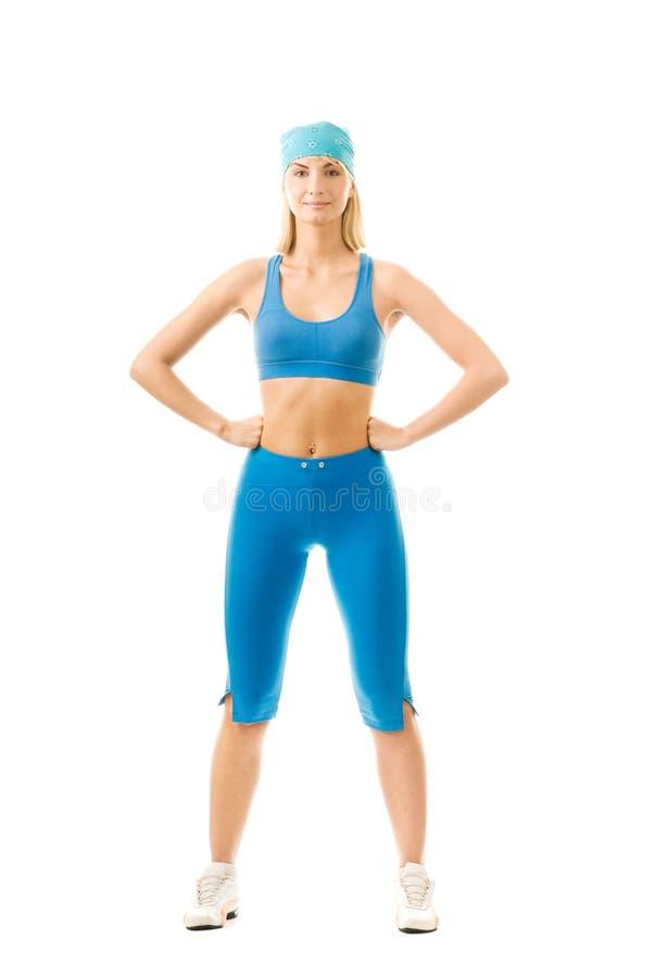wykonywanie zrobić fizycznej fitness kobiety obrazy stock