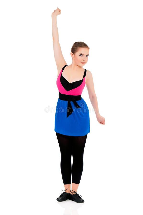 wykonywanie zrobić fizycznej fitness kobiety obraz stock